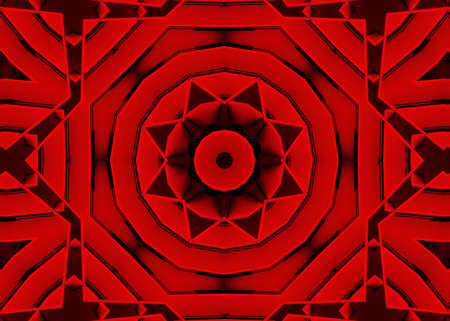 Abstract Geometric in red and black theme