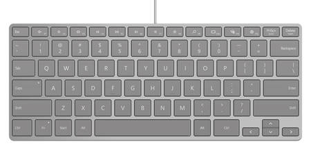 Photo-realistic Aluminum Universal PC Compact Keyboard