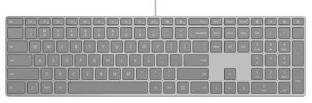Photo-realistic Aluminum Universal PC Full-size Keyboard