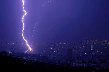 Lightning hitting a house Stock Photo - 4221328