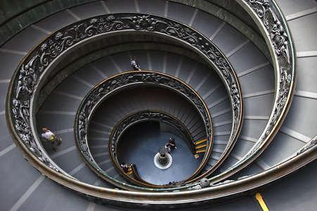volute: La spirale passi al Museo Vaticano a Roma, Italia