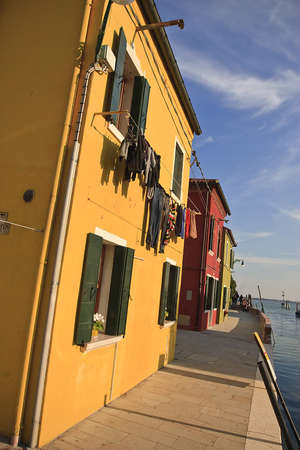 Yellow  house in the islend of Burano photo