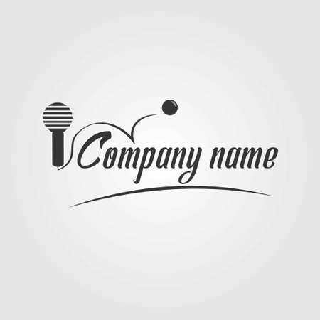 simple logo: Classic and simple karaoke house logo