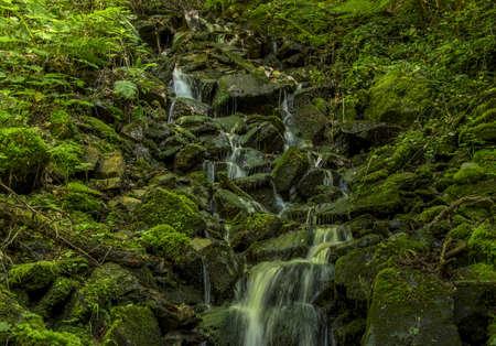mountin: Bulgaria Rila Mountin June 16, 2016 Green waterfall