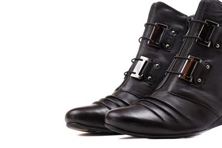 Stylish female boots of black colour of graceful modern design. Stock Photo - 8275823