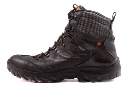 Rough leather footwear for work and productive leisure. Protection of feet in difficult conditions. Stock Photo - 8275772