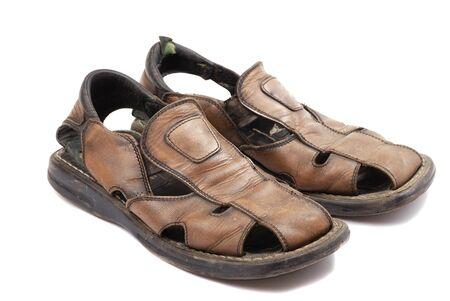 Easy footwear for the pedestrian walks in warm weather