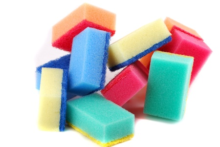 Small sponge for washing of ware and for cleaning in various conditions. Stock Photo - 8276536