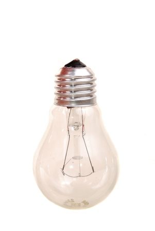 Bulb of spiral type on a white background  photo