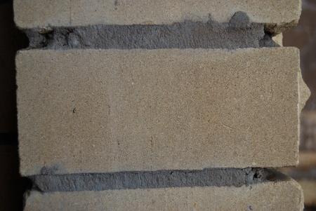 Closeup of new brick wall surface texture photo