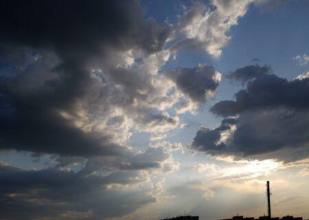sky before a thunder-storm rainy weather landscape Stock Photo - 11072064