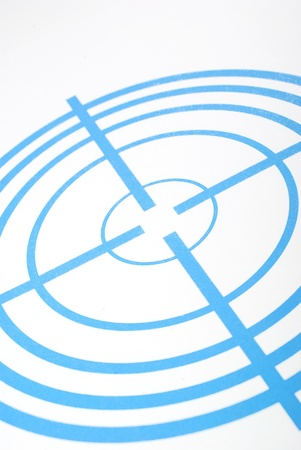 Dark blue target with concentric circles and nails Stock Photo - 11072056