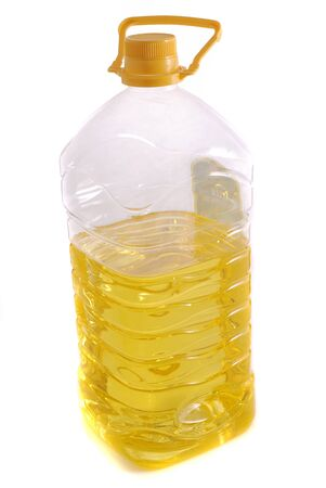 unopen: sunflower seed oil on a white background