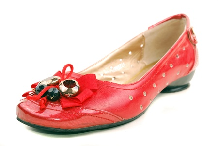 red shoes for women on a white background Stock Photo - 11170931