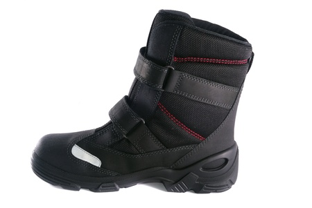 Rough leather footwear for work and productive leisure. Protection of feet in difficult conditions. photo