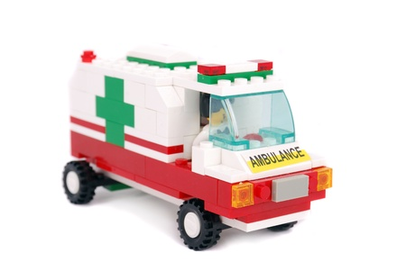 emergency stretcher: Emergency ambulance car,isolated on white background.