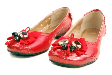 red shoes for women on a white background Stock Photo - 13438212