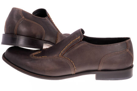 shocks: Brown shoes isolated on the white background