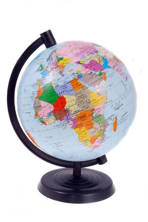 terrestrial globe: Terrestrial globe isolated on a white background Stock Photo