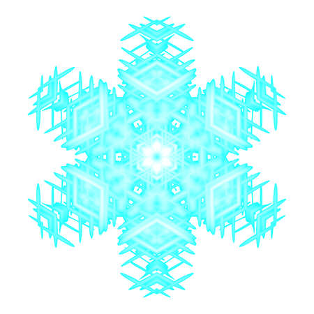 snow flake: Snow flake useful as decoration, background or wallpaper. Stock Photo