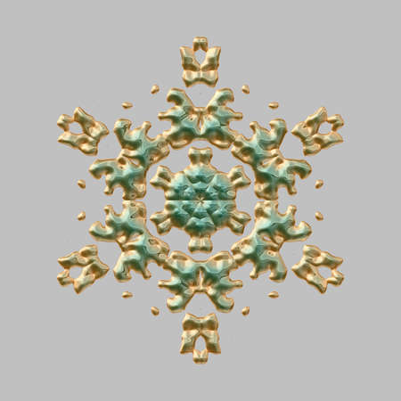 snow flake: Graphic Snow flake for the background, texture or illustration. Stock Photo