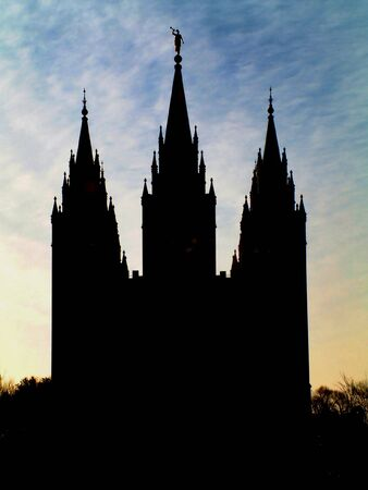 Mormon Temple Silhouette photo