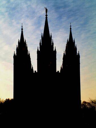 lds: Mormon Temple Silhouette