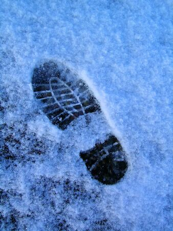 icey: Footprint in Snow