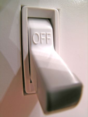closeup of a power switch in the off position Imagens