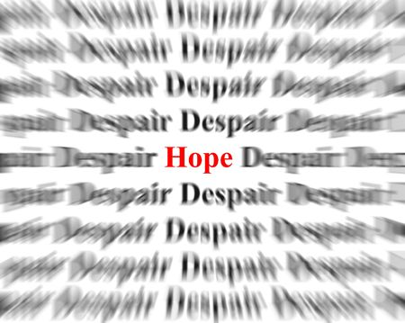 uplifting: Closeup detail of black and white words with red word Stock Photo