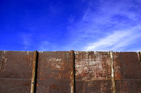Detailed closeup of colorful rusty sheet of old metal Stock Photo - 1254017