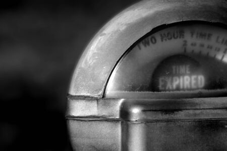 Close up of parking meter showing that the time has run out Stock Photo