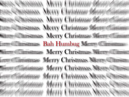humbug: Merry Christmas black and white words with red word