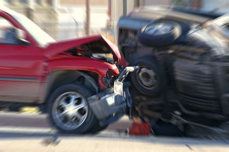 wrecks: Car Wreck with a car rolled over
