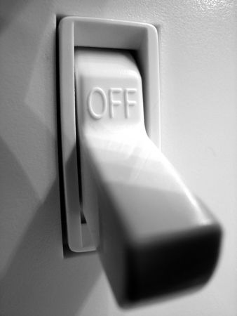 Power or light switch inside of a home