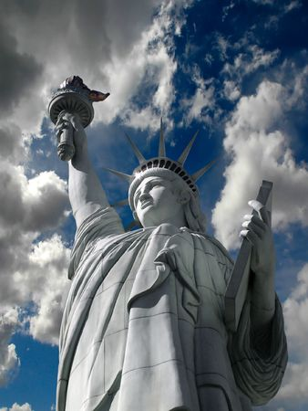 statute: Detail of Statue of Liberty