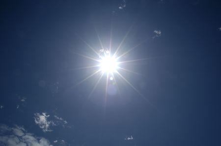 sunburned: Sun in Blue Sky