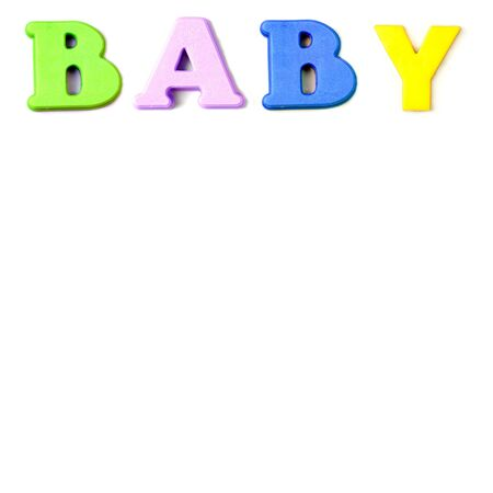 Child's letters spelling the word baby Stock Photo - 3073319