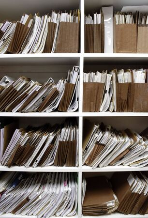Office shelves full of files and boxes Stock Photo - 3695615