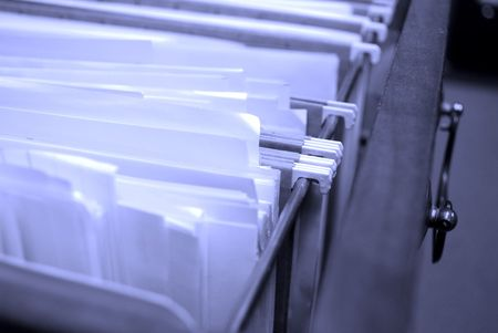 Filing Drawer full of files and boxes Stock Photo - 4178622