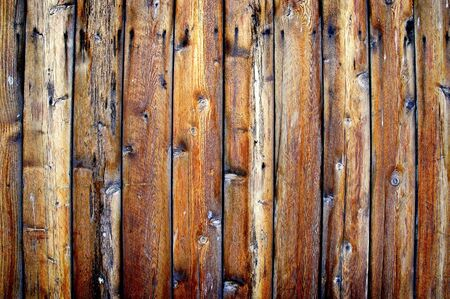 Detailed closeup of old wooden fence photo
