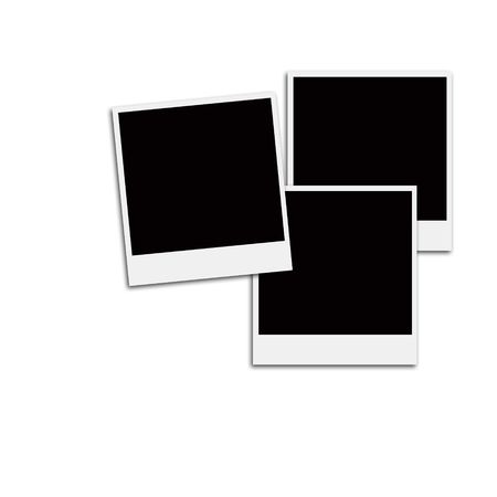 Several Instant Film Frames On An Isolated White Background Stock ...