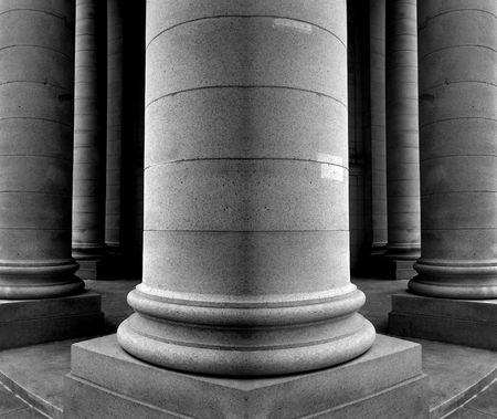 Collumns of an old building, architecture photo