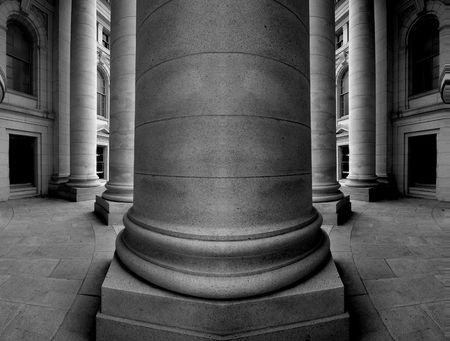 Columns of an old building, architecture photo