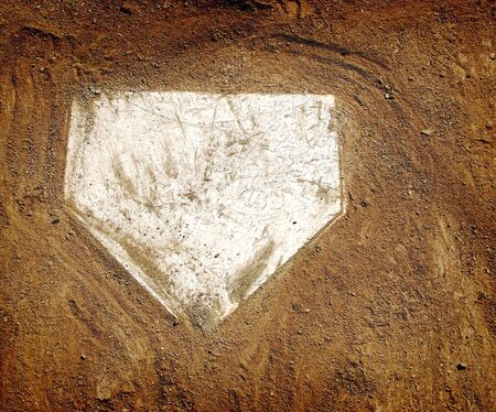Home plate on baseball field with copy space Stock Photo - 6154460
