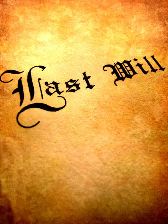 Envelope with Last Will and Testament Imagens