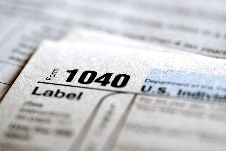 impuestos: Portarretrato de detalle de los formularios de impuestos actual para presentaci�n de IRS