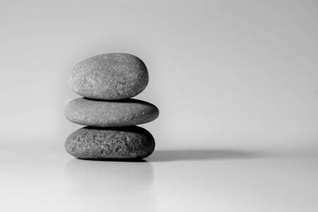 Stack of rocks symbolizing simplicity and tranquility photo