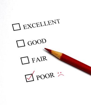 Liste des options de excellent pour les pauvres Banque d'images - 7622564