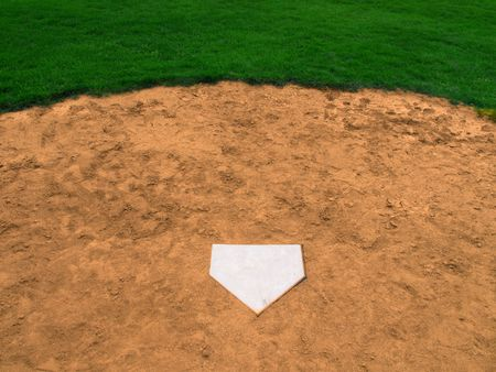 Homeplate in Baseball                  photo